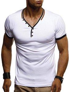 T-shirts d'été Tshirt Tshirt Strosted Courts Designer Mens Hommes imprimer V Tops réguliers Cou Longueur Bouton Bouton Gasmj