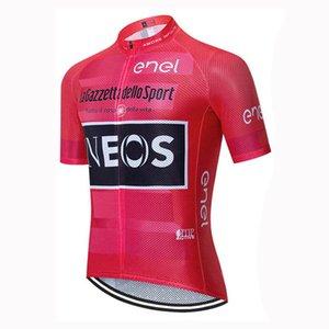 squadra INEOS corte ciclismo Jersey breve di uomini vestiti di riciclaggio Maglia manica corta 2020 Estate Road Bike Race Uniforme B611-25