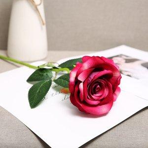 Новые Имитация Розы Свадебный Праздник Реквизит Полноценный Холдинг Букет Украшение Гостиной Одиночные Цветы Моделирование Flannelette Rose