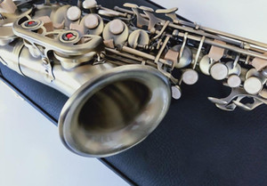 Bronce Yanagisawa S-992 Saxofón Soprano Curvo Bb Tune instrumento de música de saxofón con Boquilla del grado profesional