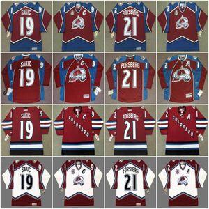 Colorado Avalancher JOE SAKIC 1996 PETER FORSBERG 1996 PETER FORSBERG 2001 CLAUDE LEMIEUX 1996 CLAUDE LEMIEUX Vintage Hockey Jersey