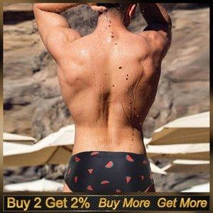 Trending Swimsuit Men Push Up Mens Swimwear Men Swim Briefs Chic Printing Sexy Mens Swim Briefs Bikini Sunga Masculina Praia