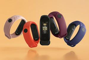 В наличии оригинала Xiaomi Mi диапазона 4 Смарт Miband 3 Цвет экрана Браслет сердечного ритма Фитнес Музыка Bluetooth 50M Водонепроницаемый Band4