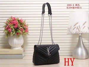 mujeres diseñadores bolsos de hombro de lujo crossbody cadena de la bolsa de mensajero de cuero de calidad buen bolso bolsos damasYSL