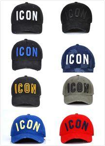 Gewaschene Großhandel D2 Baumwollbaseballmütze ICON Letters Baseballmützen Hysteresen-Hut für Mann-Frauen-Vati-Hut Stickerei Lässige Cap 2020 heiß 5wdsa
