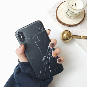 Phone Case For iPhone 11 Pro X XS Max XR 6 6s 7 8 Plus Luxury Glossy Granite Stone Marble Texture Cover