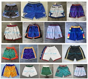 Alta qualità ! 2019 pantaloni di pallacanestro Pantaloncini Squadra Don Pocket Shorts Sport Shorts Bianco Blu Rosso Viola Verde Nero