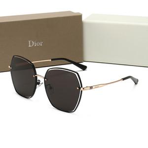 Dior 1340 mulheres óculos cabeça de leopardo búfalo homens luxo óculos meia quadros sol óculos de ouro, prata metálica quadro Eyewear luneta Com caixa de fora