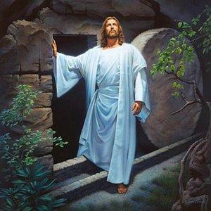 # A038 Simon Dewey Vive Jesucristo resucitado de la tumba Decoración impresión de HD pintura al óleo sobre lienzo arte de la pared de la lona representa 200110
