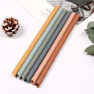 8.7inch Spiral Silicone Straws Colorful Spiral Silicoil Drinkne Straw For Cups Food Grade Spiral Thread Cocktaing Straws Recycleable Straws