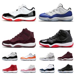WMNS 11 Blanco Bred Snakeskin azul marino Orange Trance 11s 2020 Bred zapatos de baloncesto transpirable Concord High 45 zapatillas deportivas tamaño 7-13