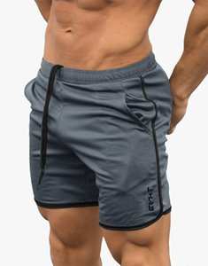 2019 New Men's Strap-up Exercise Running Training Outdoor Quick-drying Elastic Slim Shorts and Trousers gym shorts