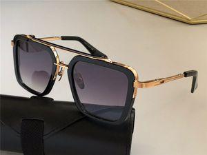 Neue Design Sonnenbrille Sieben Männer Top Vintage Mode Stil Square Rahmen Outdoor Protection UV 400 Objektiv Eyewear mit Fall