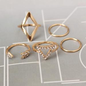 Europe and the United States fashion wild diamond arrow diamond rhombic triangle