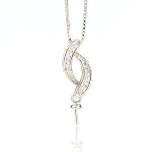 Venta al por mayor S925 accesorios colgantes de plata esterlina al por mayor de plata esterlina perla colgante de montaje para joyería diy