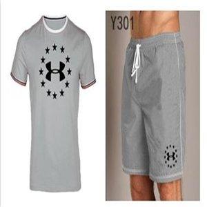 Men Running Summer Fahion new tracksuit men Two Piece Sweatshirts Suit Male T-Shirt+Shorts Mens Suit Clothing Fashion Jogger sportswear