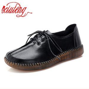 Xiuteng cuir véritable femme Chaussures Casual Sneakers Mode Automne Chaussures en caoutchouc souple Homme Flats Chaussures Femme Femme