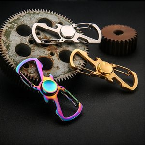 Fidget Spinner Metal Hand Spinner Rotate Anti Stress Toy Key ring chain stainless steel beer bottle opener Stress man gift