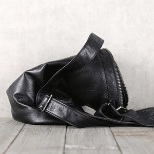 Designer-BJYL main peau de vache peau de vache Baotou épaule épaules hommes occasionnels sac en cuir horizontal