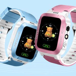 Y21S GPS 추적기 아이 스마트 GPS 시계 카메라 손전등 SOS 전화 위치 아기 시계 어린이 시계 2G 데이터 SIM 카드를보고