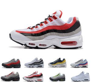 2020 Nike Air Max airmax 95 9s Running Shoes OG Neon Grape Triple Negro Blanco TT University Red Cushion Surface Transpirable Trainer Sport Sneakers 40-45