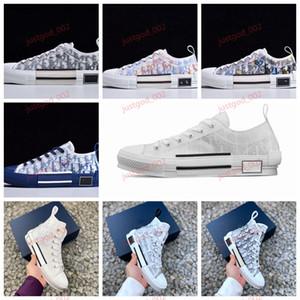 Dior B23 Oblique High Top Sneakers Leinwand juststor Schuhe Männer hochwertige Damenmode l Frauen Niedrigspitze Segeltuch-beiläufige Sandelholzschuhe