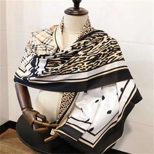 Fashion Spring and Autumn Women'S Chiffon Silk Scarf Square Towel Polyester Scarf Print Hundred Flowers Shawl Summer Shawl Turban