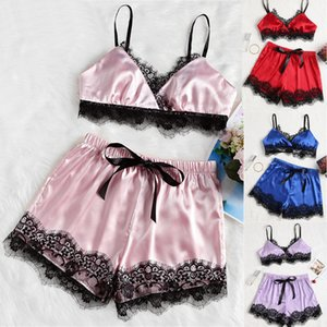 S M L XL XXL Женское бельё Nightgowns Пижамы Комплекты Женский Nightdress уравновешивания шнурка пижамы SFZ384