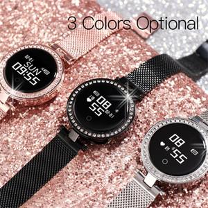 الساعات الذكية النساء السيدات X10 المرأة Blood PressureHeart Rate الرياضة الذكية ووتش سوار لالروبوت IOS # 35