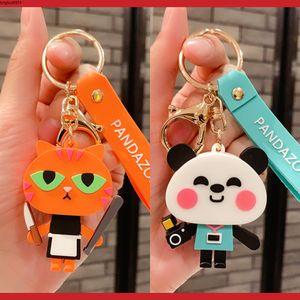 Animal Bat Keychains Cute Pig Cartoon Panda Cat Car Key Chain Children Bag Pendant Keyring Gifts Student Lovers Gift