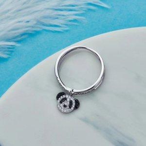 belle serie animale carino-accessori-moda panda bordo fascia anello di pietra adatto per regalo personalizzato con regalo