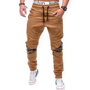 2018 Brand Male Trousers Mens Frenulum pants Multi-pocket Camouflage Splicing Men Hip Hop Harem Joggers Pants M-4XLFree transportation