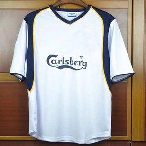 Retro 01 02 LUIS GARCIA OWEN GERRARD FOWLER RUSH away soccer jersey 2001 2002 McMANAMAN BARNES VINTAGE Retro classic football shirt