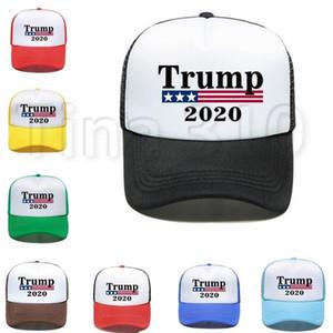 Новый Трамп Бейсболка Keep America Great 2020 Hat Fashion Donald Trump Mesh Cap Summer Beach Ball Sun Hat Party Hats 4788