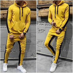 Jogging and Running Hooded Sets Hip Hop Style 2 Piece Pants Patchwork Mens Designer Tracksuits Fashion Casual