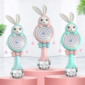 لعبة التفاعلية الطفل الأرنب نمط ألعاب موبايل الموسيقية راتل لينة عضاضة عيد الميلاد هدايا عيد الميلاد ألعاب تعليمية