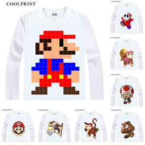 سوبر ماريو بروز لويجي خجول غاي Odyssey Donky Kong Anime Cusplay Custom Shirts Tank Top Long Skumpies Fit Printed Fashion