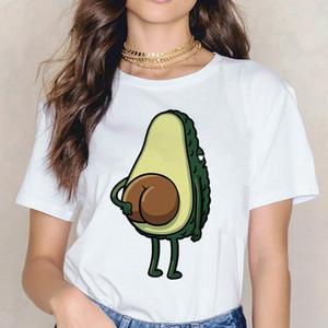 T-shirt da donna avocado divertente t shirt donna vegan femme ulzzang vestiti vestiti tshirt top tee coreano femmina femmina cartoon harajuku stampa estate