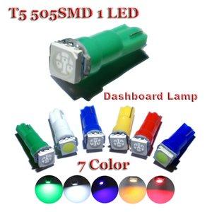AORUNYEBAO 500PCS 자동차 실내 백색 LED T5 1 SMD 대시 보드 경고 표시 웨지 (1) 자동차 전구 램프 12V를 주도 빨간색