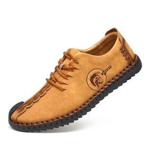 Moda scarpe casual in pelle da uomo Soft-Sole mocassini morbida pelle KPOCCOBKN Scarpe Lace-up Uomini Mocassini