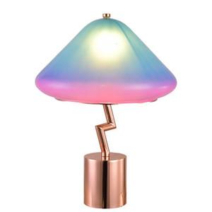 Post-moderne kreative Kinder Zimmer Prinzessin Zimmer Rosa Schreibtischlampe moderne Nacht Schlafzimmer Designer Modell Raum kontrahiert Lampe