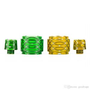 Goodvape Resin Replacement Tube Cap Kit Big Capacity Honeycomb Cobra Drip Tip Snake Skin For Vaporizer Crown 4 IV Glass Tank Visual Ability