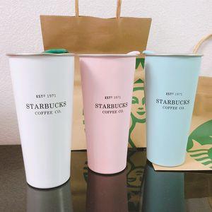 Starbucks thermos fresh pink silicone cup lid anniversary season 1971 desktop portable car mug