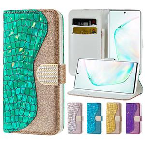 Laser Glitter cassa del raccoglitore del telefono per Samsung Galaxy S20 Ultra S10 Inoltre Nota 10 iPhone 11 Pro Max doppio slot per schede lanci la copertura
