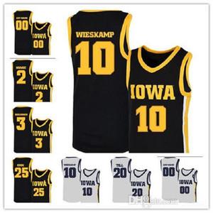 2020 NCAA IOWA Hawkeyes Jerseys 10 Joe Wieskamp 25 Tyler Cook 55 Luka Garza 5 CJ Fredrick 15 Kriener 30 Lester Basketball Jerseys Personalizado