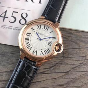 36mm marca damas diseñador de moda señoras del reloj de la marca del reloj del vestido de moda de cuero correa de SSS rojo pequeño dial reloj de cuarzo