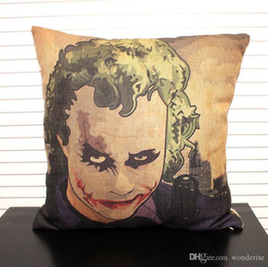 Heath Ledger Joker The Dark Knight Cushion Covers American Retro Vintage Cushion Cover Decorative Linen Cotton Pillow Case For Bedroom Sofa
