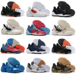 2019 Nerw Harden Vol.4 Баскетбольная обувь для мужчин James LS PK Bred Черно-белые кроссовки Спортивная обувь Мужская дизайнерская обувь