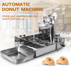 ücretsiz kargo 2000W Ticari Donut Makineleri 4 Satır Donut Elektrikli Kızartma Mini Donut Otomatik Donut makinesi