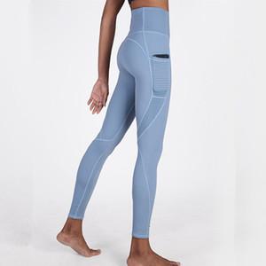 CretKoav Yoga Pantolon Yaz İnce Stil Spor Tozluklar İçin Kadın Spor Yüksek Bel Yan Cep Nefes Sıkı legging Running
